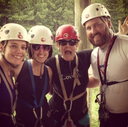 before zipling and rafting. soo much fun!
