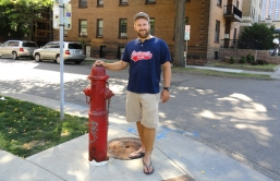 clyde likes the tall hydrants. we think this is because of snow?