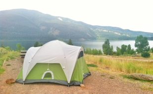 best view at the campground, but a SLEEPLESS NIGHT for erin being paranoid about grizzlies sniffing us out.
