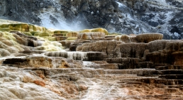 mammoth hot springs at Yellowstone