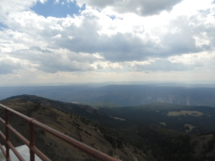 the view from Mt. Washburn summit
