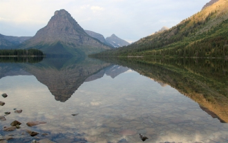 Two Medicine Lake at Glacier NP