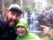 rainy hike to Rockwell Falls