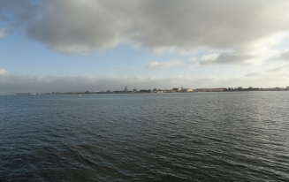 the naval base across from San Diego