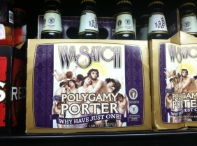 a hilarious brew we found in Utah (the land of Mormans)