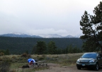 camp in Rocky Mountain NP