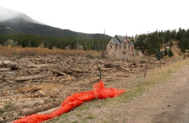 on our way to Rocky Mountain National Park… evidence of the horrible floods was seen the whole way to the park :(